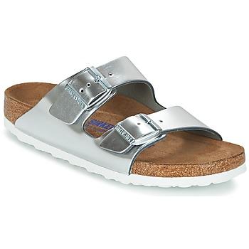 Cipők Női Papucsok Birkenstock ARIZONA SFB Ezüst