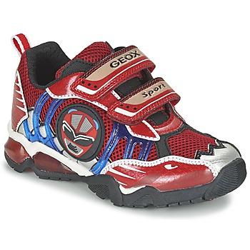 Shoes Fiú Rövid szárú edzőcipők Geox J SHUTTLE B. B Piros