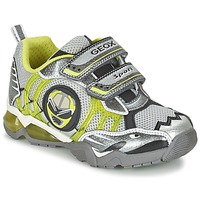 Cipők Fiú Rövid szárú edzőcipők Geox J SHUTTLE B. B Szürke / Citromsárga