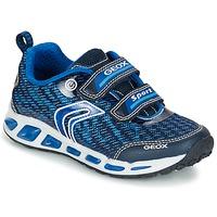 Shoes Fiú Rövid szárú edzőcipők Geox J SHUTTLE B.A Tengerész