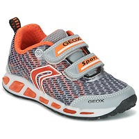 Cipők Fiú Rövid szárú edzőcipők Geox J SHUTTLE B.A Szürke / Narancssárga