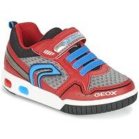 Shoes Fiú Rövid szárú edzőcipők Geox J GREGG B Piros / Kék