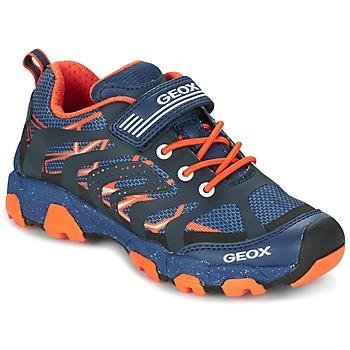 Shoes Fiú Rövid szárú edzőcipők Geox J MAGNETAR B. A Tengerész / Narancssárga