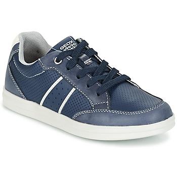 Shoes Fiú Rövid szárú edzőcipők Geox J ANTHOR B. B Tengerész / Fehér