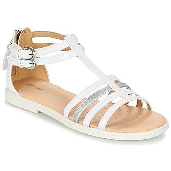 Shoes Lány Szandálok / Saruk Geox J S.KARLY G. D Fehér