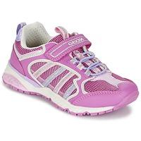 Shoes Lány Rövid szárú edzőcipők Geox J BERNIE G. A Rózsaszín / Lila