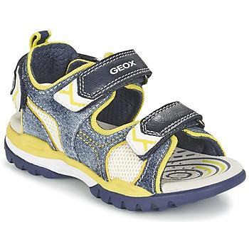 Shoes Fiú Sportszandálok Geox J BOREALIS B. D Tengerész / Citromsárga