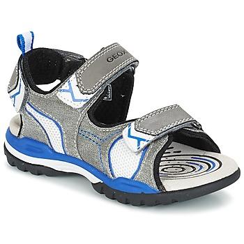 Shoes Fiú Sportszandálok Geox J BOREALIS B. D Szürke / Kék