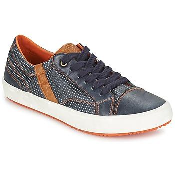 Shoes Fiú Rövid szárú edzőcipők Geox J ALONISSO B. A Tengerész / Barna