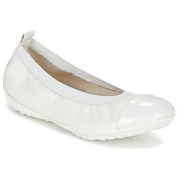 Shoes Lány Balerina cipők / babák Geox J PIUMA BALL B Fehér
