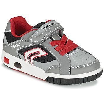 Cipők Fiú Rövid szárú edzőcipők Geox J GREGG A Szürke / Piros