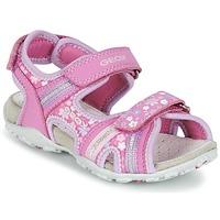 Cipők Lány Sportszandálok Geox J S.ROXANNE A Rózsaszín