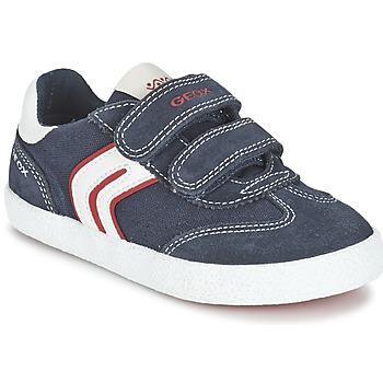 Shoes Fiú Rövid szárú edzőcipők Geox J KIWI B. M Tengerész / Piros