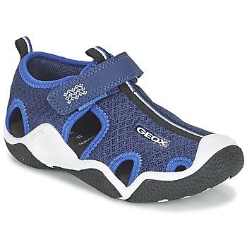 Shoes Fiú Sportszandálok Geox J WADER C Tengerész