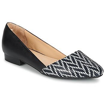 Cipők Női Balerina cipők / babák Hush puppies JOVANNA Fekete  / Fehér