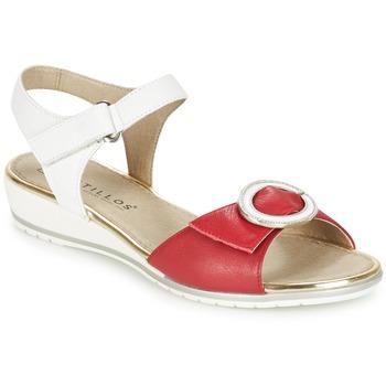 Cipők Női Szandálok / Saruk Pitillos MERVA Fehér / Piros