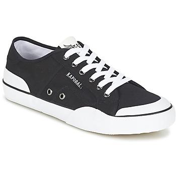 Cipők Férfi Rövid szárú edzőcipők Kaporal BUCKET Fekete