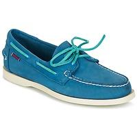 Cipők Férfi Vitorlás cipők Sebago DOCKSIDES Kék