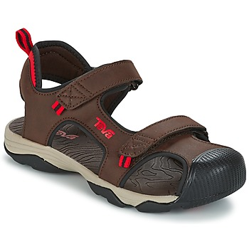 Shoes Fiú Sportszandálok Teva TOACHI 4 Barna / Fekete  / Piros