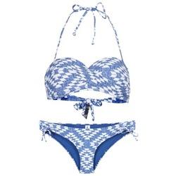 Ruhák Női 2 részes fürdőruhák Rip Curl DEL SOL BANDEAU SET Kék / Fehér