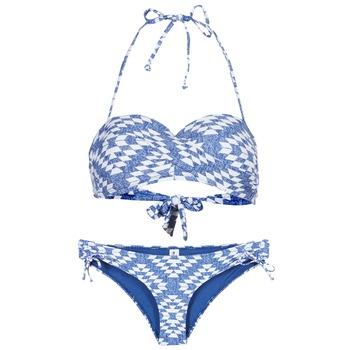 material Női 2 részes fürdőruhák Rip Curl DEL SOL BANDEAU SET Kék