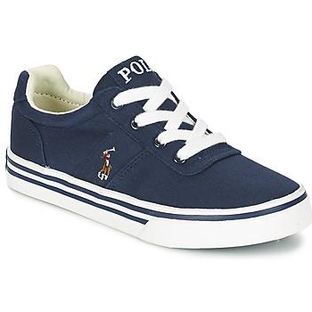 Cipők Fiú Rövid szárú edzőcipők Polo Ralph Lauren HANFORD Tengerész