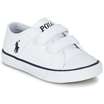 Shoes Gyerek Rövid szárú edzőcipők Ralph Lauren DYLAND EZ Fehér
