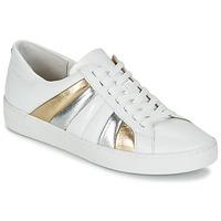 Shoes Női Rövid szárú edzőcipők MICHAEL Michael Kors CONRAD SNEAKER Fehér / Arany / Ezüst