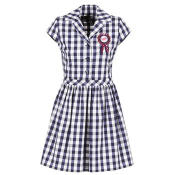 material Női Rövid ruhák Love Moschino WVF3001 Kék / Fehér