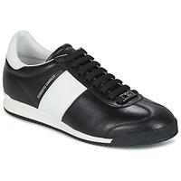 Cipők Férfi Rövid szárú edzőcipők Roberto Cavalli 2042A Fekete  / Fehér
