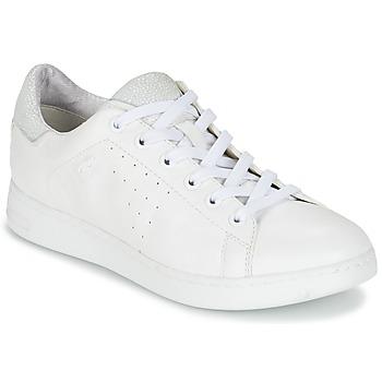 Cipők Női Rövid szárú edzőcipők Geox JAYSEN A Fehér