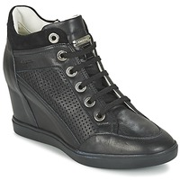 Shoes Női Magas szárú edzőcipők Geox ELENI C Fekete