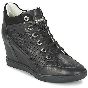 Cipők Női Magas szárú edzőcipők Geox ELENI C Fekete