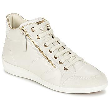 Shoes Női Magas szárú edzőcipők Geox MYRIA Fehér