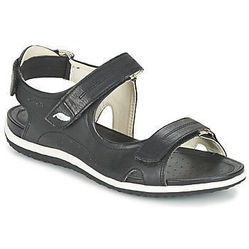 Cipők Női Sportszandálok Geox D SAND.VEGA A Fekete