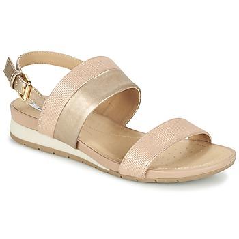 Shoes Női Szandálok / Saruk Geox D FORMOSA C Rózsaszín / Arany