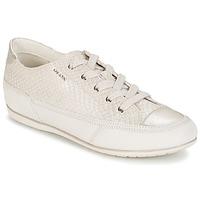 Shoes Női Rövid szárú edzőcipők Geox NEW MOENA Fehér