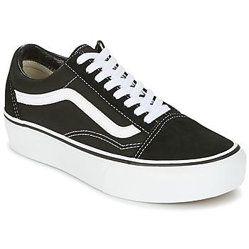 Cipők Női Rövid szárú edzőcipők Vans UA OLD SKOOL PLATFOR Fekete  / Fehér