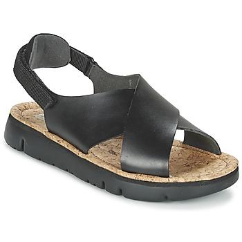 Cipők Női Szandálok / Saruk Camper ORUGA Fekete