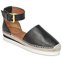 Cipők Női Gyékény talpú cipők See by Chloé SB26150 Fekete