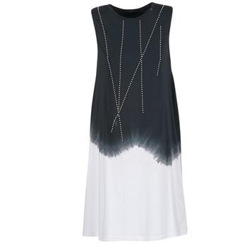 Ruhák Női Rövid ruhák Replay WOOPINA Fekete  / Fehér