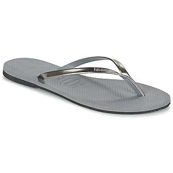 Cipők Női Lábujjközös papucsok Havaianas YOU METALLIC Szürke