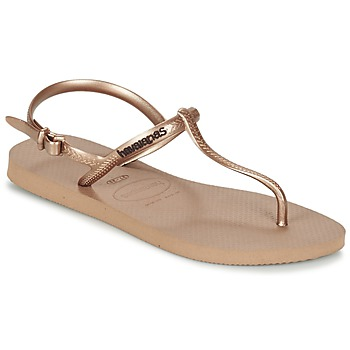 Shoes Női Lábujjközös papucsok Havaianas FREEDOM Rózsaszín / Arany