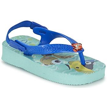 Cipők Gyerek Lábujjközös papucsok Havaianas BABY DISNEY CUTIES Kék / Gleccser