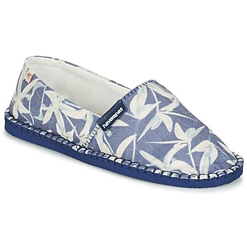 Cipők Gyékény talpú cipők Havaianas ORIGINE ORQUIDEAS Tengerész / Fehér