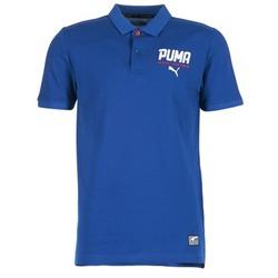 Ruhák Férfi Rövid ujjú galléros pólók Puma STYLE TEC POLO Kék