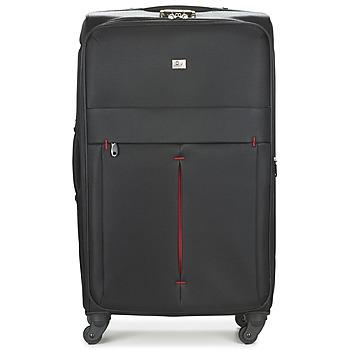 Táskák Puha bőröndök David Jones JAVESKA 111L Fekete