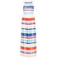 Ruhák Női Hosszú ruhák Tommy Hilfiger AGATON Fehér / Kék / Narancssárga