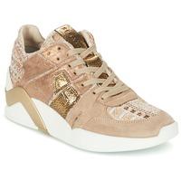 Cipők Női Magas szárú edzőcipők Serafini CHICAGO Bézs / Arany