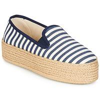 Cipők Női Gyékény talpú cipők Betty London GROMY Tengerész / Fehér